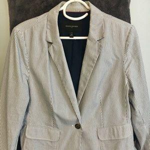 Pinstrip cotton jacket